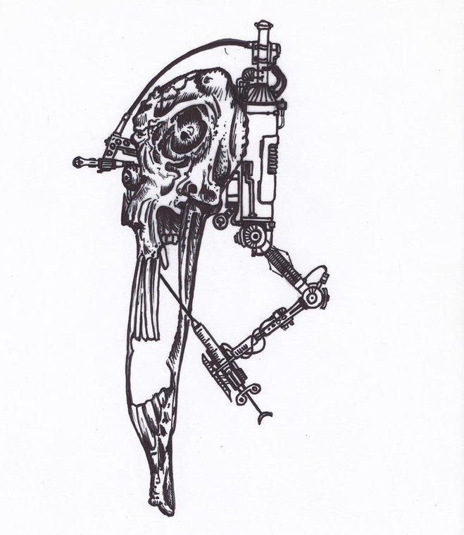 эскизы тату биомеханика