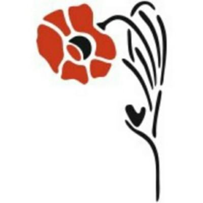 Эскиз тату с изображением цветка мака