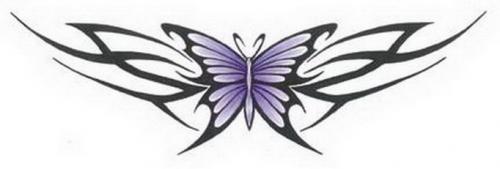Эскиз татуировки бабочка в племенном