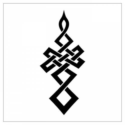 Тату орнамент кельтский 7 вверх эскиз