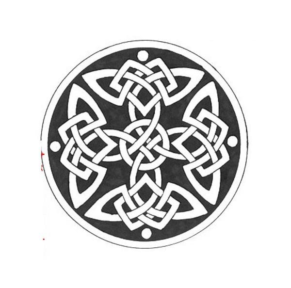 Эскиз кельтской татуировки орнамент
