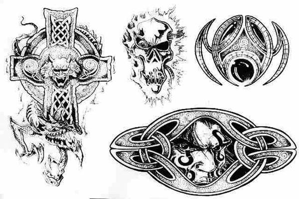 Орнамент кельтский 36 вверх эскиз