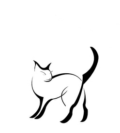 Эскиз татуировки в виде котенка вверх