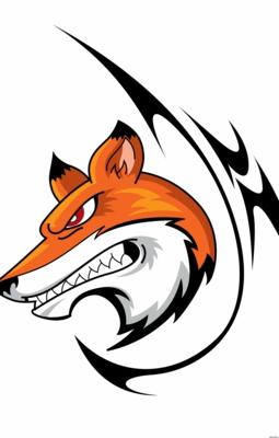 Цветной эскиз тату - злая лиса