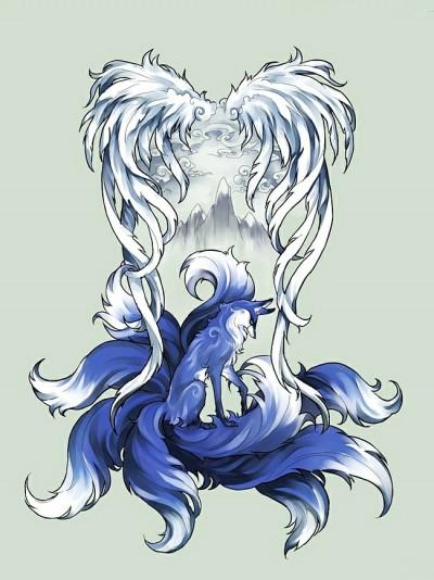 Красивый эскиз татушки лисы