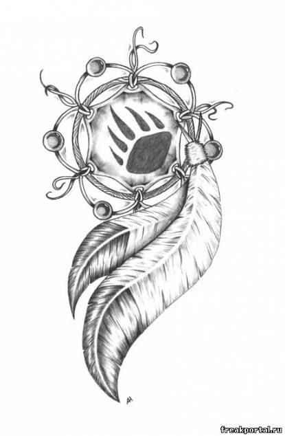 ловец снов эскиз татуировки: