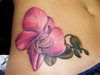 Татуировка цветок орхидея, значение татуировки цветы орхидея, тату цветы орхидея