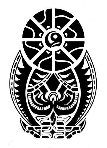 Эскиз татуировки полинезийский