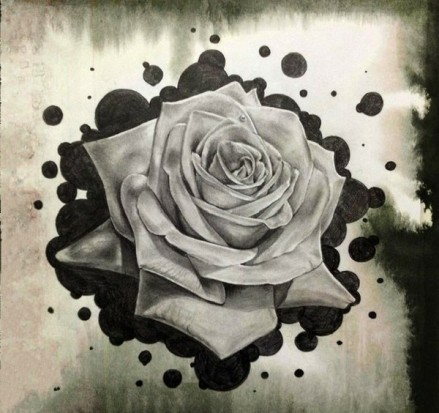 татуировки розы эскизы: