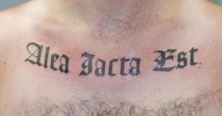 Жребий брошен латынь тату