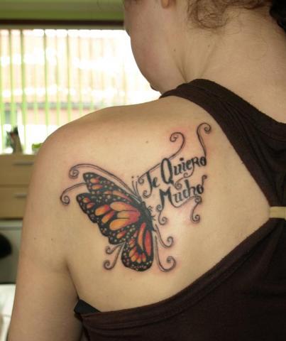 включить звуковой тату надпись про бабочку обмена наличной
