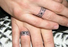 тату кельтский узор-кольцо на пальце