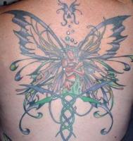 Тату фея с красивыми крыльями