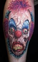 Тату страшный клоун в ужасе