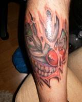 Тату страшный злой клоун