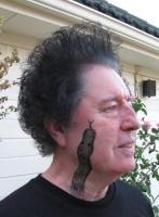 Тату змея на лице