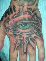 tattoo глаз на кисти рук
