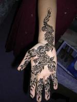 Временные tattoo хной
