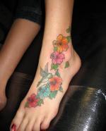 tattoo цветы на щиколотке