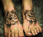 tattoo на ступне