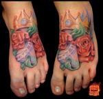 tattoo на ноге