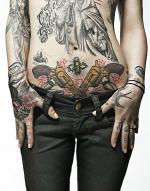 tattoo на животе