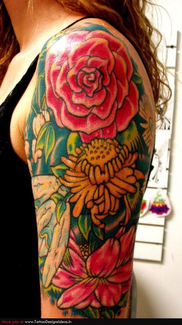 Татуировка цветок роза, значение татуировки розы, тату с розой