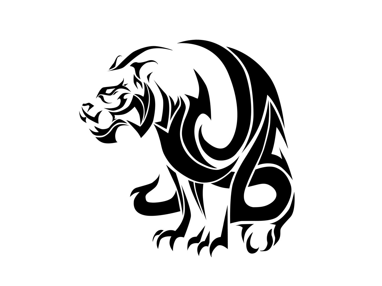 Эскиз трайбл trible татуировки дракон