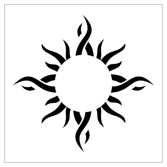 Ancient sun symbol tattoo