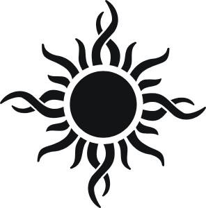 Эскиз трайбл татуировки солнце tribal sun