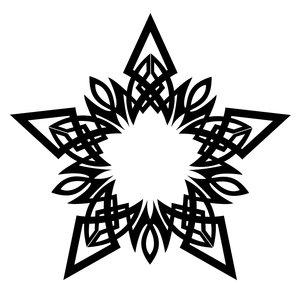Эскиз трайбл татуировки trible звезда