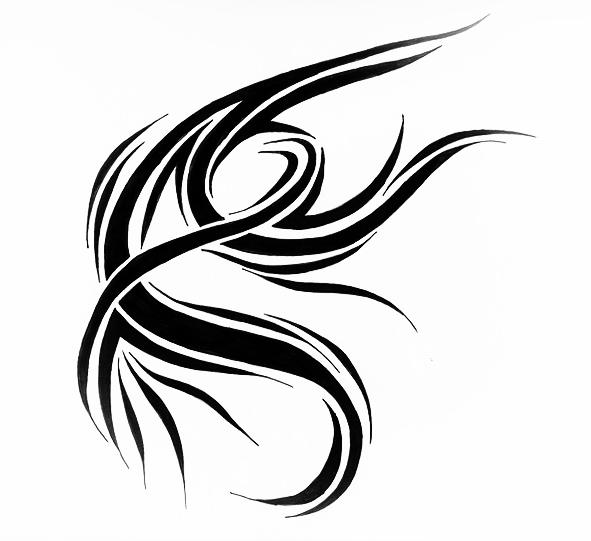 Эскиз татуировки узор из линий