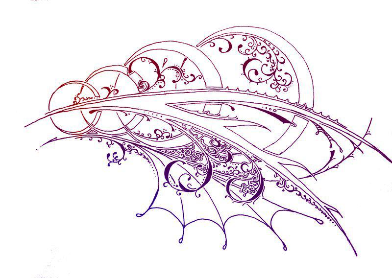 Эскиз цветной татуировки узор